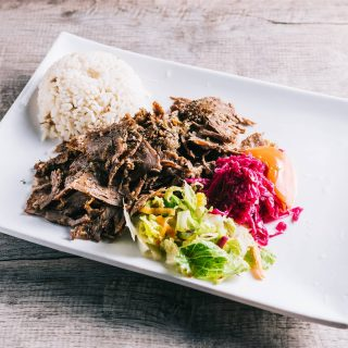 Doner Kebab (Turkish Gyro) Ground lamb and beef cooked on a rotating spin then thinly sliced.  #food #foodporn #foodphotography #yummy #yummyfood #foodie #delicious #dinner #breakfast #lunch #yum #homemade